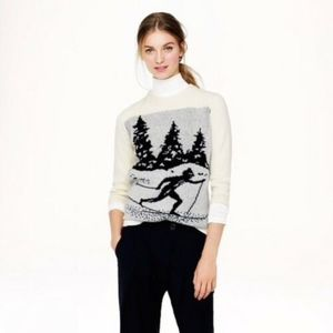 J CREW 09136 SKIER PULLOVER SWEATER WOOL XS
